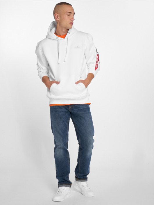 Alpha Industries Hoodie Back Print white