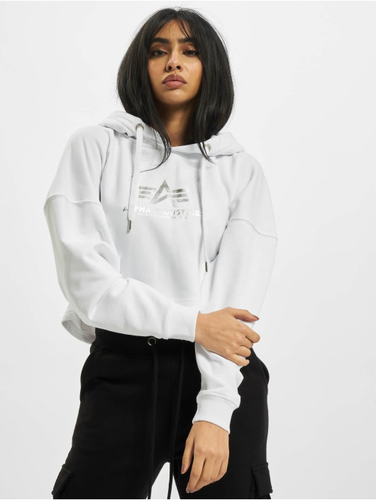 Alpha Industries Hoodie Basic Foil Print white
