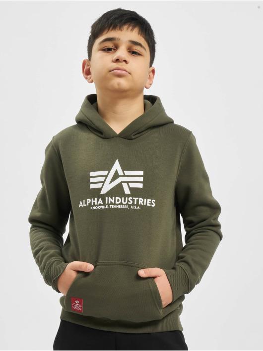 Alpha Industries Hoodies Basic olivový