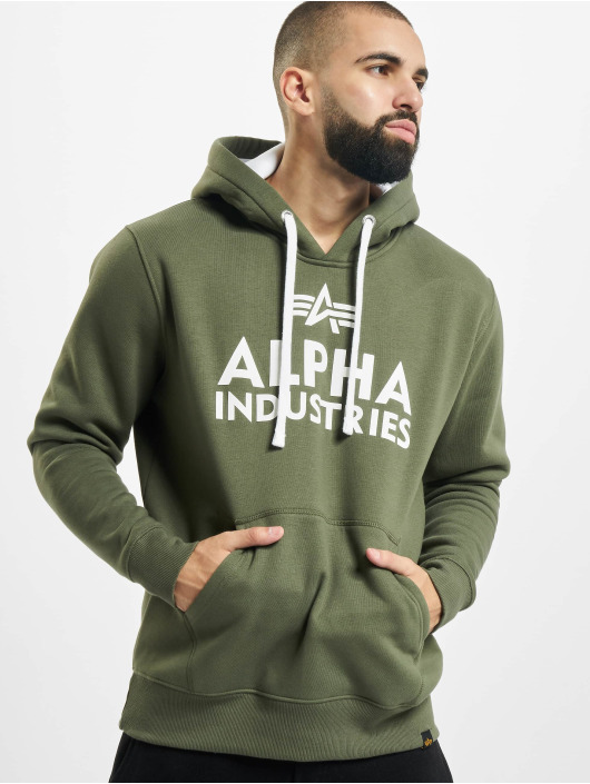Alpha Industries Hoody Foam Print olive