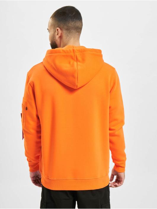 Alpha Industries Hoody Alpha Label orange