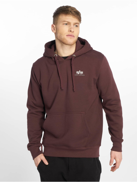 Alpha Industries Hoody Basic Small Logo rot
