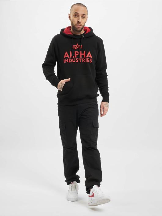 Alpha Industries Hoody Foam Print schwarz