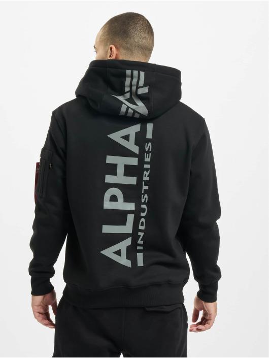 Alpha Industries Hoody Back Print Reflective schwarz