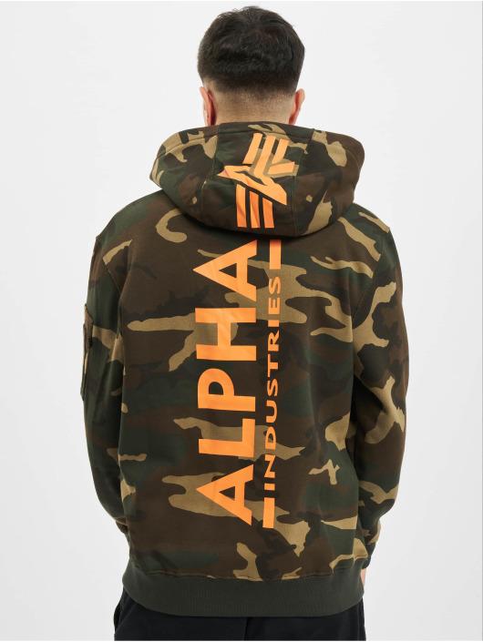 Alpha Industries Hupparit Back Print Camo camouflage