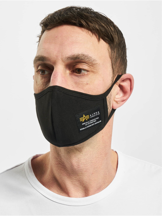 Alpha Industries Iné Crew Face Mask èierna
