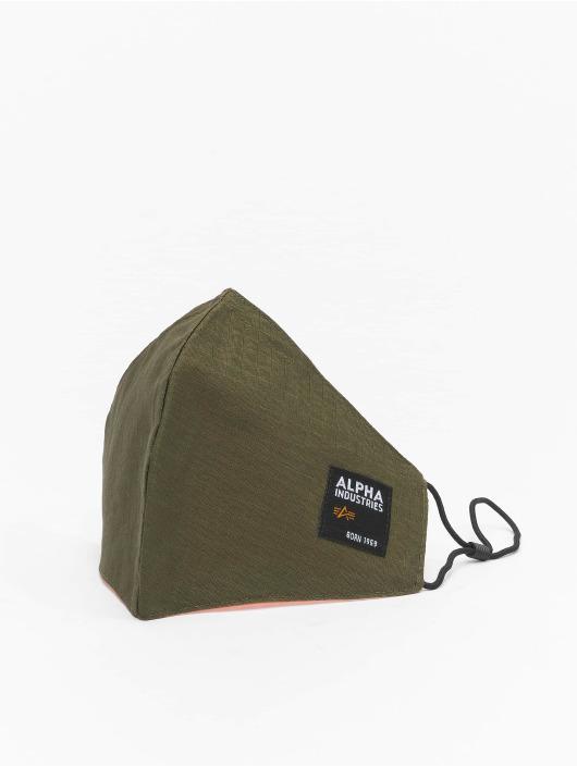 Alpha Industries Iné Label Ripstop Face Mask olivová
