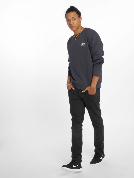 Alpha Industries Jersey Basic Small Logo azul