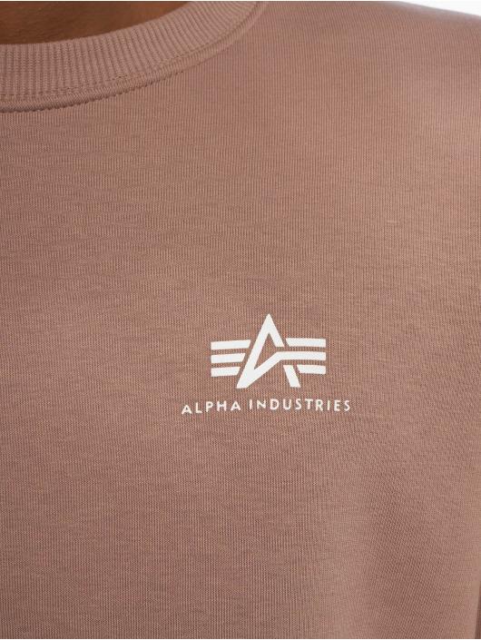 Alpha Industries Jersey Basic Small Logo púrpura