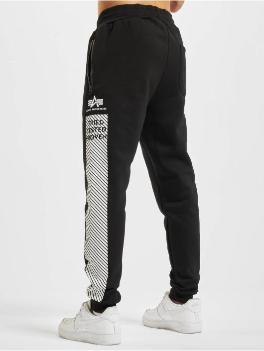 Alpha Industries Jogging kalhoty Safety Line čern