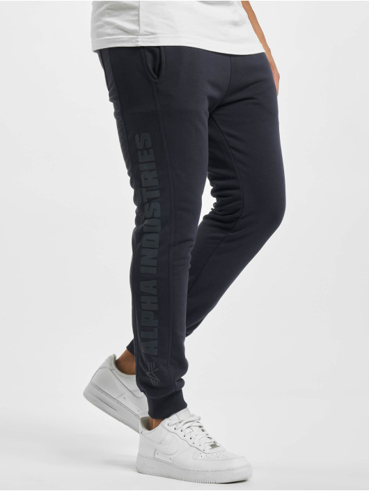 Alpha Industries Jogginghose Inlay Rubber blau
