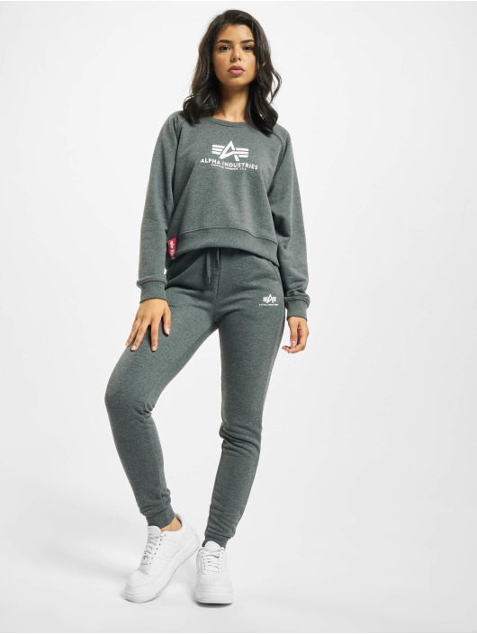 Alpha Industries Jogginghose Basic grau