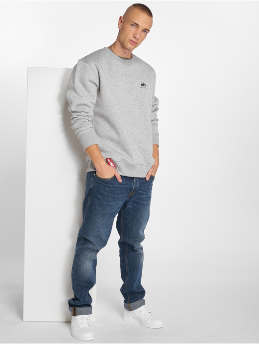 Alpha Industries Jumper Basic Small Logo grey