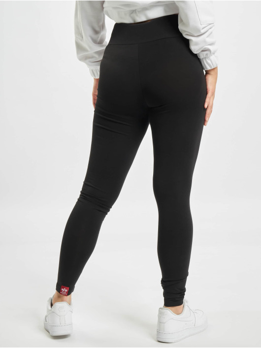 Alpha Industries Legging Basic Sl Foil Print zwart