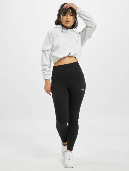 Alpha Industries Leggings Basic Sl Foil Print nero