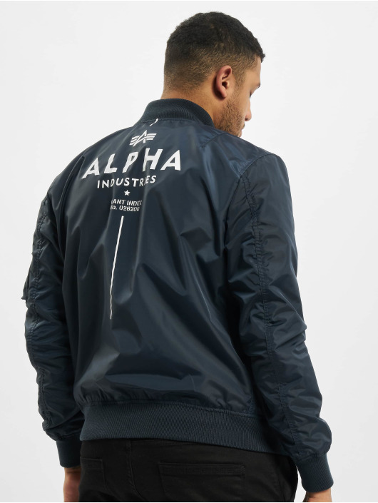 Alpha Industries Letecká bunda Ma-1 TT Glow In The Dark modrý