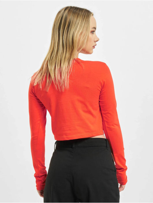 Alpha Industries Longsleeve Basic Cropped red