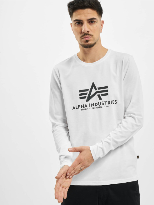 Alpha Industries Longsleeve Basic weiß