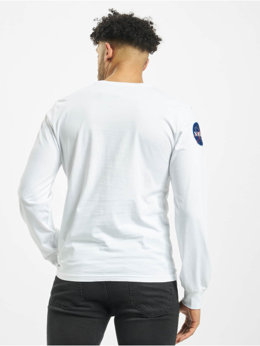 Alpha Industries Longsleeve Nasa white