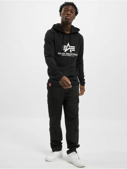 Alpha Industries Longsleeves Basic Hooded czarny