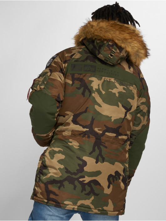 Alpha Industries Manteau hiver N3B Airbone camouflage