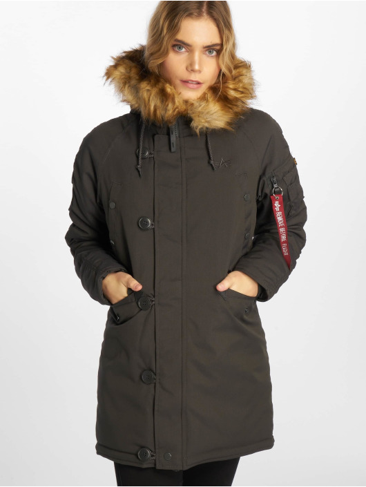 Alpha Industries Manteau hiver Explorer gris