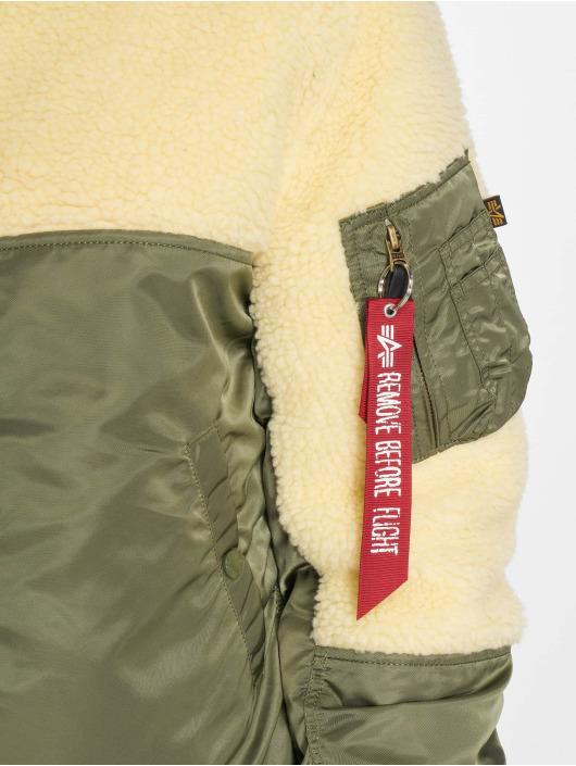 Alpha Industries Manteau hiver Teddy vert