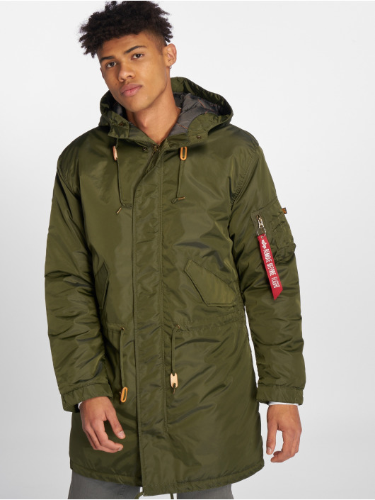 Alpha Industries Manteau hiver Fishtail CW TT vert