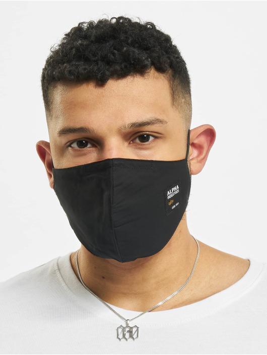 Alpha Industries More Label Face Mask black