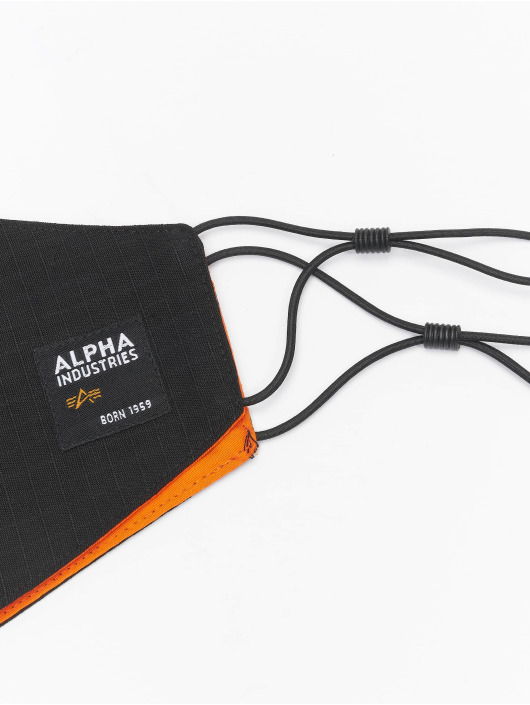 Alpha Industries More Label Ripstop Face Mask black