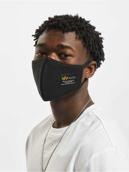 Alpha Industries More Heavy Crew Face Mask black