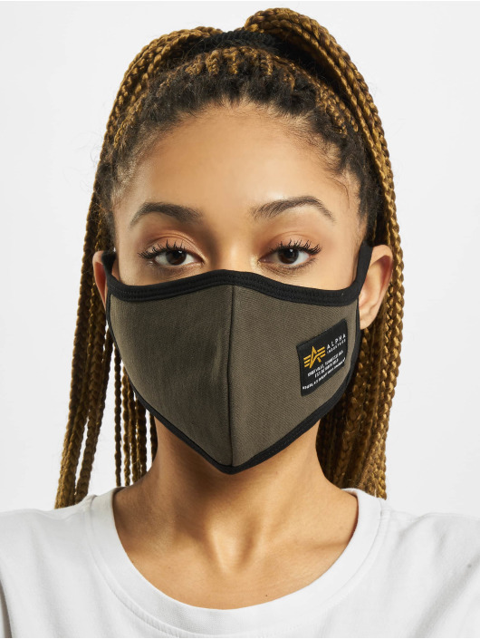 Alpha Industries More Heavy Crew Face Mask olive
