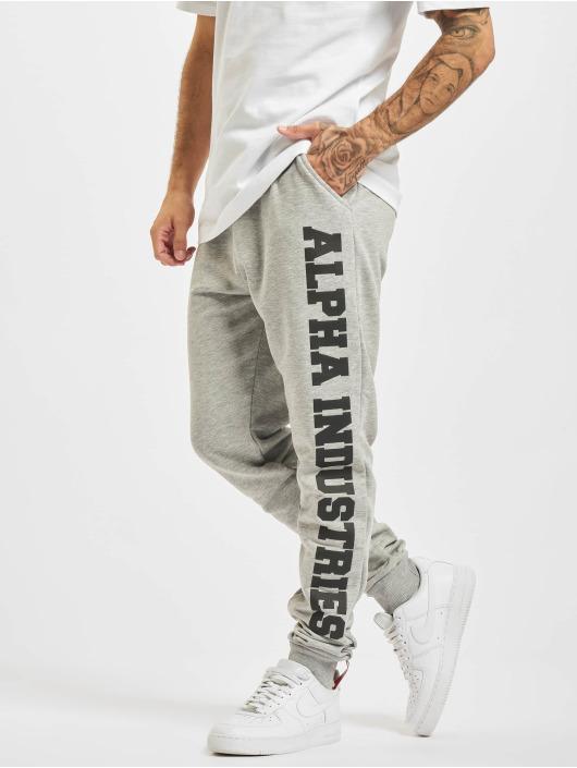 Alpha Industries Pantalón deportivo Big Letters gris
