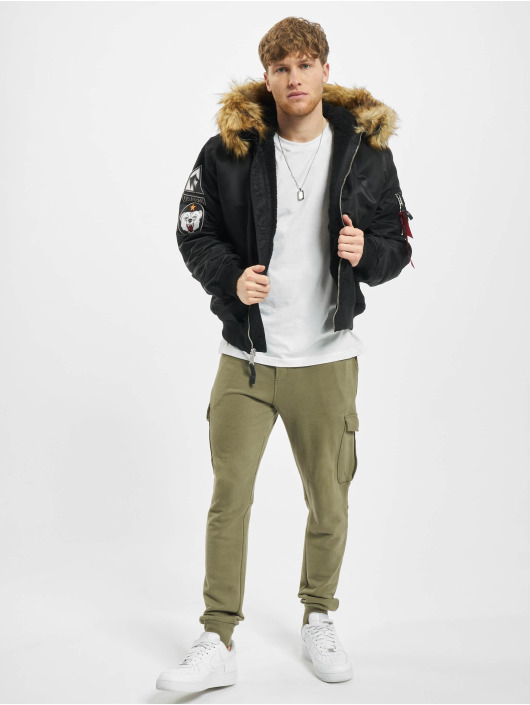 Alpha Industries Pilotjakke Ma-1 Hooded Arctic svart