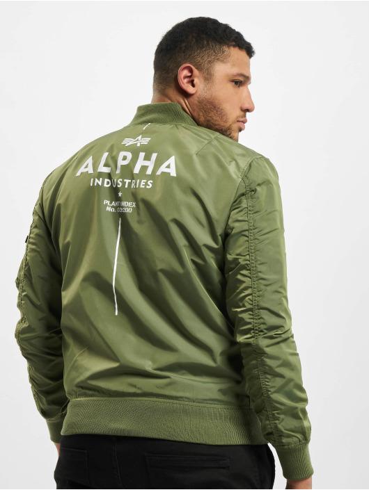 Alpha Industries Pilottitakit Ma-1 TT Glow In The Dark vihreä