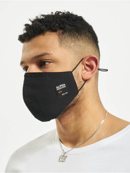 Alpha Industries Pozostałe Label Face Mask czarny