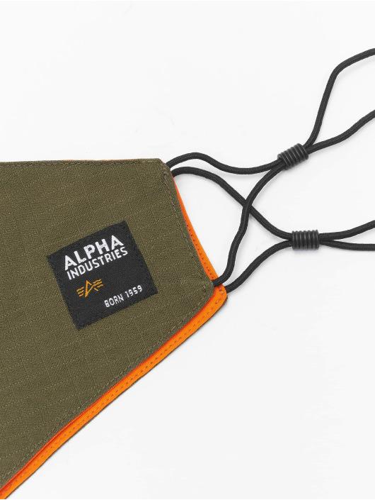 Alpha Industries Pozostałe Label Ripstop Face Mask oliwkowy