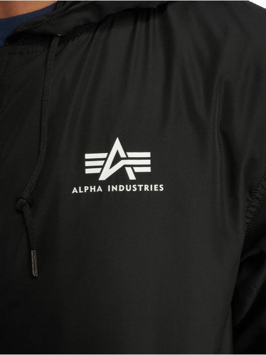 Alpha Industries Prechodné vetrovky Backprint èierna
