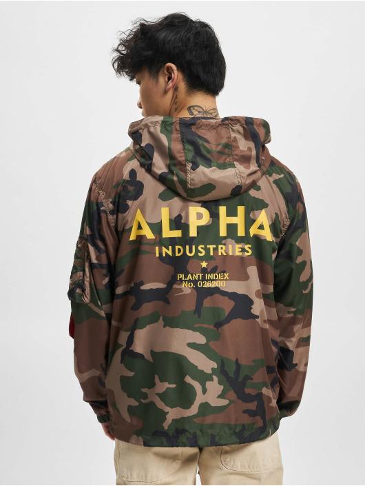 Alpha Industries Prechodné vetrovky Camo 65 maskáèová