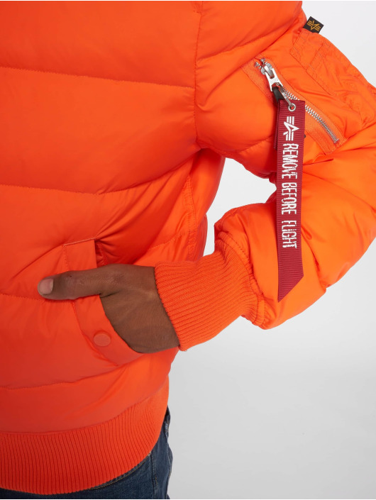 Alpha Industries Puffer Jacket MA-1 orange