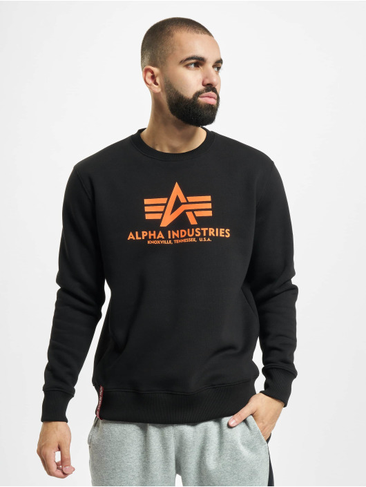 Alpha Industries Pullover Basic Neon Print black