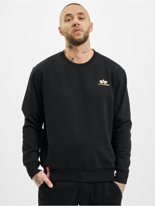 Alpha Industries Pullover Basic Small Logo Foil Print black