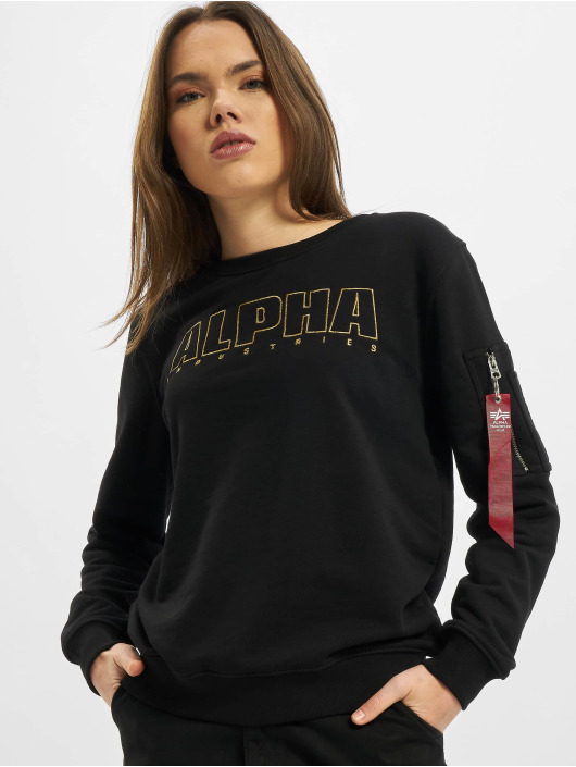Alpha Industries Pullover Alpha Embroidery black