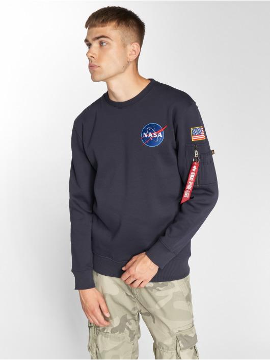 Alpha Industries Pullover Space Shuttle blau