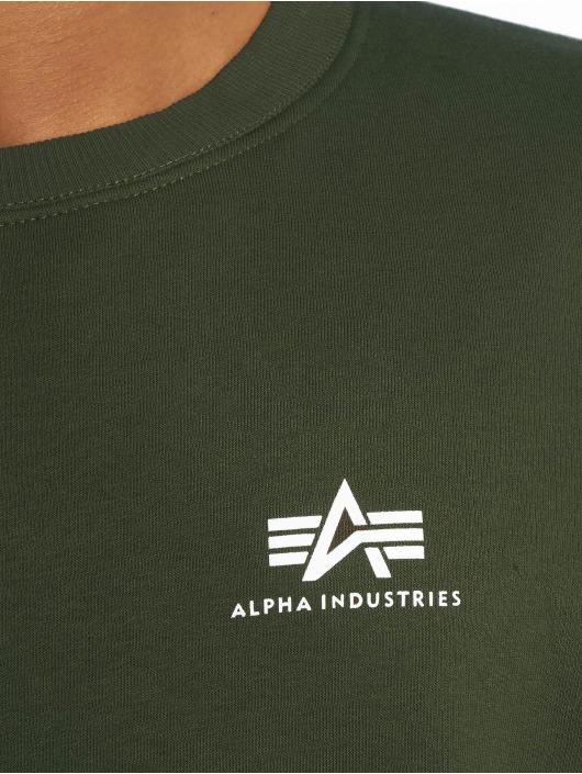 Alpha Industries Pullover Basic Small Logo grün
