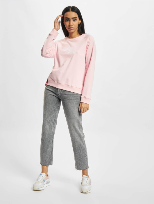 Alpha Industries Pullover New Basic rosa