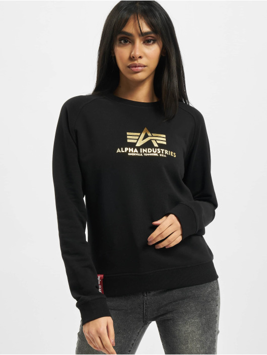 Alpha Industries Pullover New Basic Foil Print schwarz