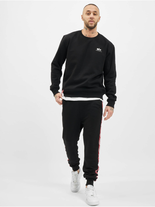 Alpha Industries Pullover Basic Small Logo Foil Print schwarz