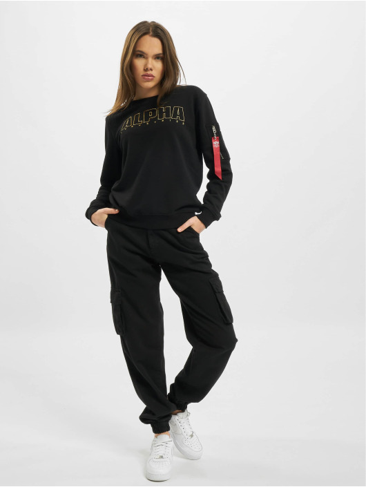 Alpha Industries Pullover Alpha Embroidery schwarz