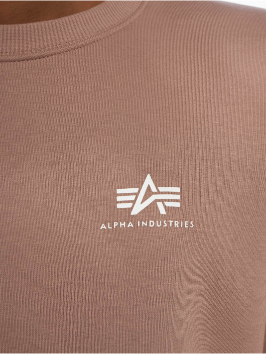 Alpha Industries Pullover Basic Small Logo violet
